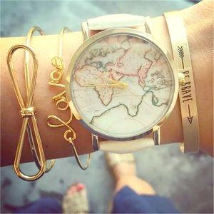 Gold Bangle Bracelet Set